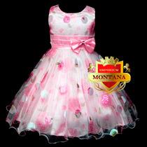 Vestido Infantil P/ Aniversarios, Damas De Honra E Festas