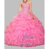 Pronta Entrega Vestido Debutante Rosa Novo