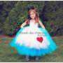 Vestido Alice No Pais Das Maravilhas Glamour