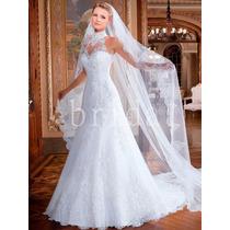Vestido Noiva Importado Sob Encomenda - Gola Cisne Premium