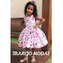 Vestido Infantil Princesinha Rosa 6, 8, 10 E 12