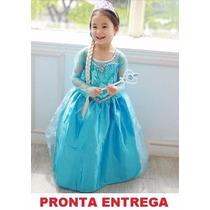 Fantasia Infantil - Elsa Frozen Disney - Pronta Entrega