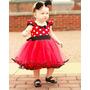 Vestido Fantasia Luxo Bebê Minnie Disney - Pronta Entrega