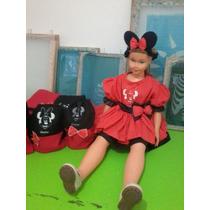 Vestido Da Minnie Infantil, Confeccionamos Sobre Medidas