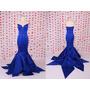 Vestido Azul Longo Partido Querido Vestido De Noite