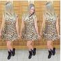 Vestido Importado Renda Sexy Chique Oncinha Leopard
