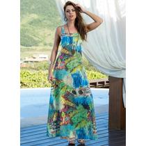 Vestido Longo Estampado Moda Verão Promoção