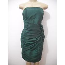 Vestido Festa Verde Curto Tam G 46 Com Echarpe Ótimo Estado