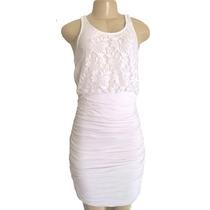 Vestido Feminino Curto Midi Renda Justo Regata Festa