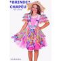 Vestido De Festa Junina + Brinde Chapéu Junino Infantil Luxo