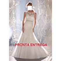 Vestido De Noiva Sereia-tule E Renda