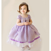 Fantasia Vestido Princesa Sofia Luxo - Pronta Entrega