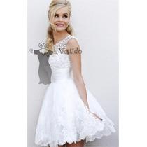 Vestido De Noiva Curto Para Civil Ou Debutante , Importado