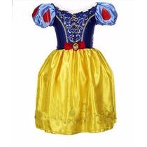Vestido Fantasia Infantil Branca De Neve.