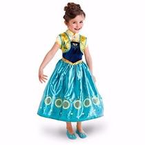 Ana Cosplay Vestido Carnaval Fantasia Frozen