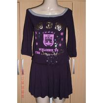 Lindo Vestido C/ Mangas - Pitanga Tam; M R$ 40,00