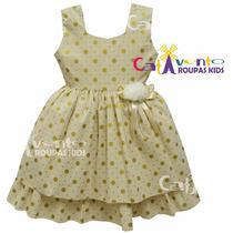 Vestido Festa Infantil Tamanhos 04 Ao 12 Com Tiara De Brinde