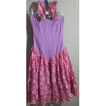 Vestido Debutante Lilás Com Renda