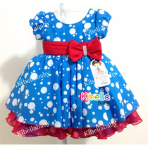 Vestido Infantil Galinha Pintadinha Laço Vermelho