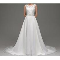 Vestido De Noiva Em Organza - Manequim 42 - Envio Imediato