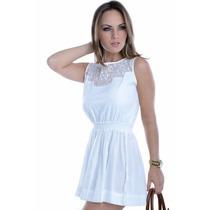 Vestido Feminino Com Detalhe De Renda - Kam Bess - Ve0754