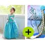 Fantasia Acessórios Frozen + Bonecas Vestido Pronta Entrega