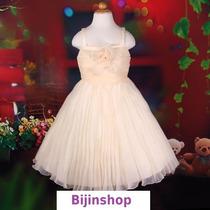 Vestido Infantil Princesa/daminha Plissado Com Flores