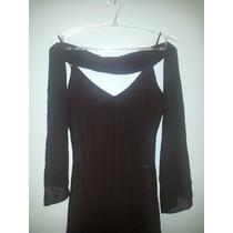 Lindo Vestido Preto, De Festa, Com Echarpe