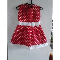 Vestido3 Anos Vermelho Com Bolinhas Brancas Faço Encomendas