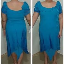 Vestido De Festa Moda Mineira Azul Tam: 44