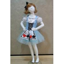 Fantasia Alice No Pais Das Maravilhas Vestido Frete Grátis