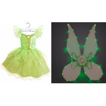 Vestido E Asa Sininho Tinker Bell Disney Store 9/10 Anos