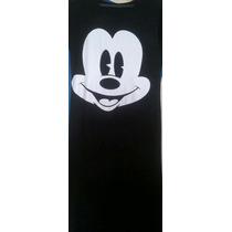 Vestido Preto Longo Mickey. Atacado. Menor Preço Do Ml!!!