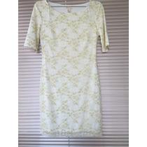 Vestido Forever 21 Eua Branco E Dourado