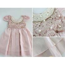 Vestido De Festa Infantil - Bordado Pérolas Menina Cattai
