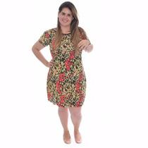 Vestidinho Plus Size Liganete Estampado Grande Envio 24 Hrs