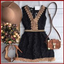 Novo Vestido De Renda Com Decote Arco Especial Coleção: 2016