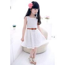 Vestido Infantil, Moda Verão Ind. P/ Crianças De 3 A 6 Anos