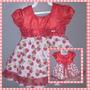 Vestido De Festa Infantil Morangos- Promoção!