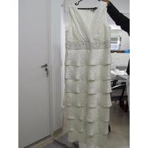 Vestido Noiva Plus Size R&m Richards Novo