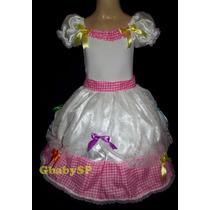 Vestido Junino Noiva Infantil Festa Junina Noivinha Caipira