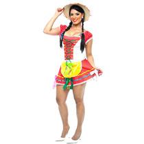 Vestido De Festa Junina,caipira,fantasia,quadrilha,junino