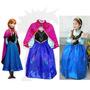Vestido Frozen Fantasia Elsa Princesa Anna - Pronta Entrega