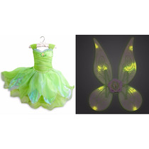 Vestido E Asa Sininho Tinker Bell Disney Store 2015 T= 9/10