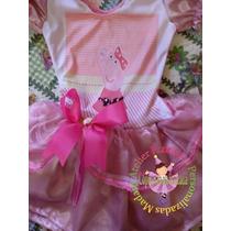 Kit Vestido Fantasia Roupa Aniversário Peppa Fashion
