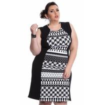 Vestido Malha Est G1 - G4 Plus Size Frete Grátis Ref6303
