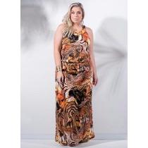 Vestido Longo Plus Size Feminino Roupa Gordinha G Gg Xxg Xlg