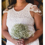 Vestido Noiva Renda Longo Romantico Plus Size Civil-campo