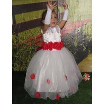 Vestido De Daminha Princesa Florista E Anagua