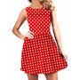 Vestido Rodado De Bolinhas Vermelho Pin-up Pinup